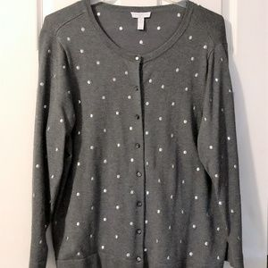Grey with Metalic Dots Sweater in Womens